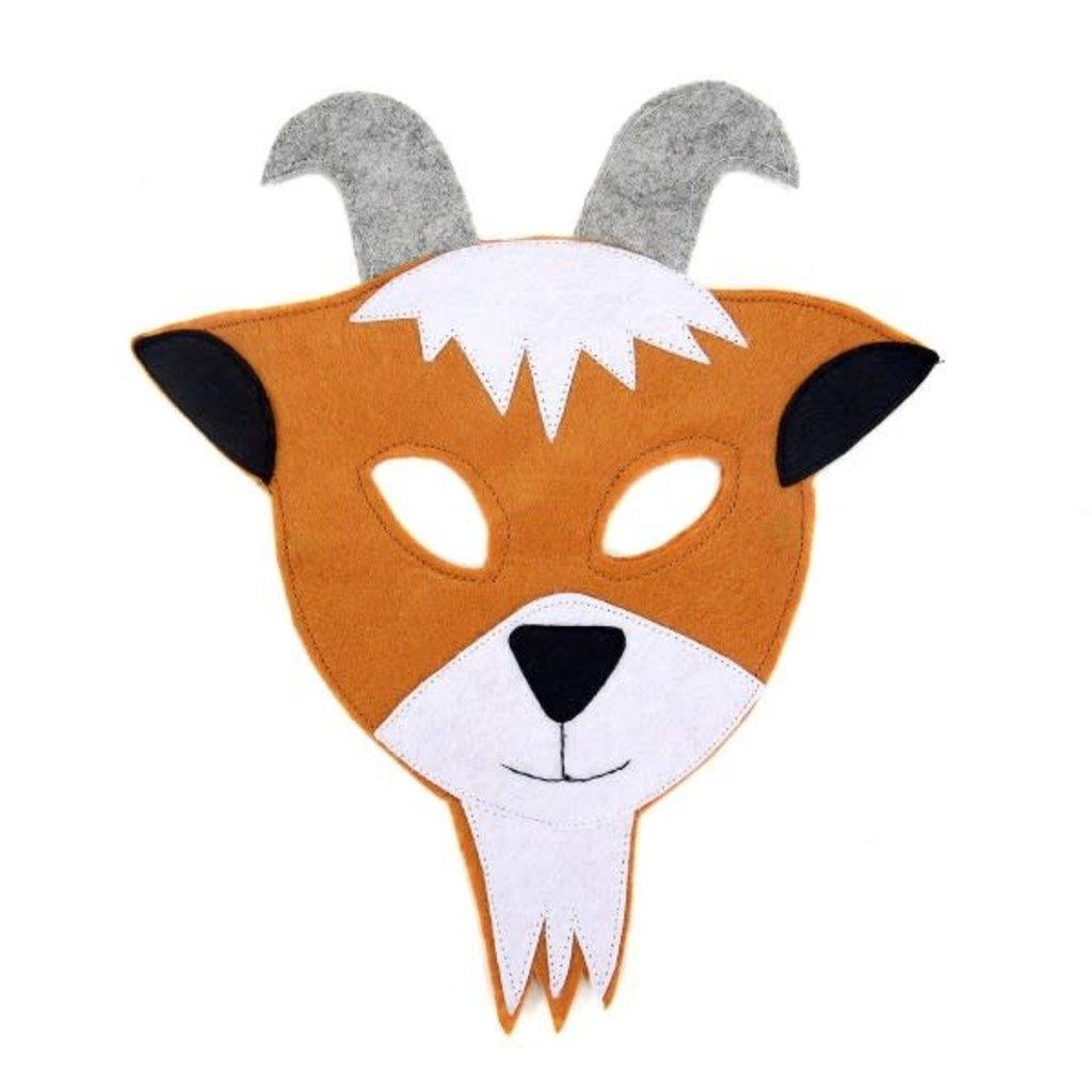 Minga Imports Felt Play Mask Goat