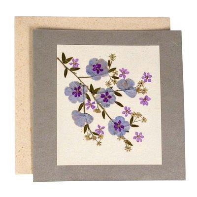 Ten Thousand Villages Purple Bouquet Greeting Card