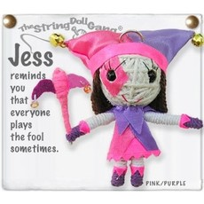 Kamibashi Jess the Jester String Doll Keychain