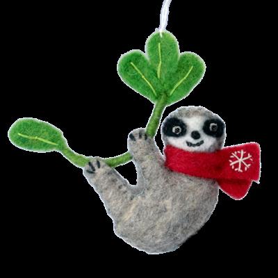 DZI Handmade Snowflake Sloth Ornament