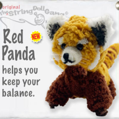 Kamibashi Red Panda String Doll Keychain