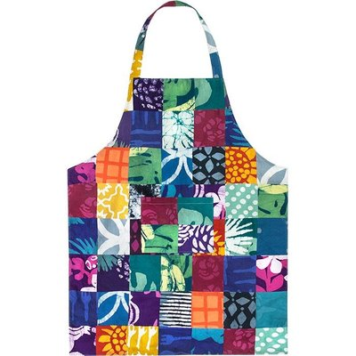 Global Mamas Reversible Apron: Bold Patchwork