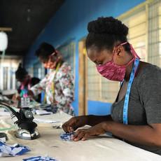 Global Mamas Organic 2-Ply Batik Kids Face Mask