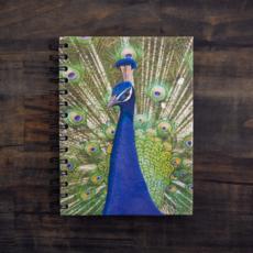 Mr Ellie Pooh Large Embellished Peacock Journal