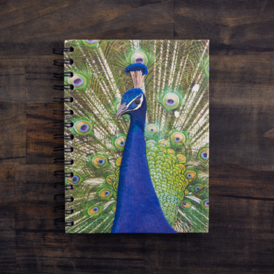 Mr Ellie Pooh Large Embellished Peacock Journal