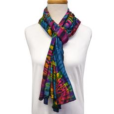 Unique Batik Lolly Rainbow Tie-Dye Scarf