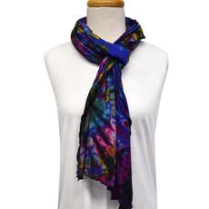 Unique Batik Lolly Blue Tie-Dye Scarf