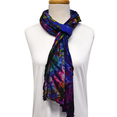 Unique Batik Lolly Blue Tie-Dye Scarf