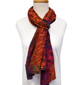 Unique Batik Lolly Red Tie-Dye Scarf