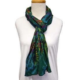 Unique Batik Lolly Green Tie-Dye Scarf
