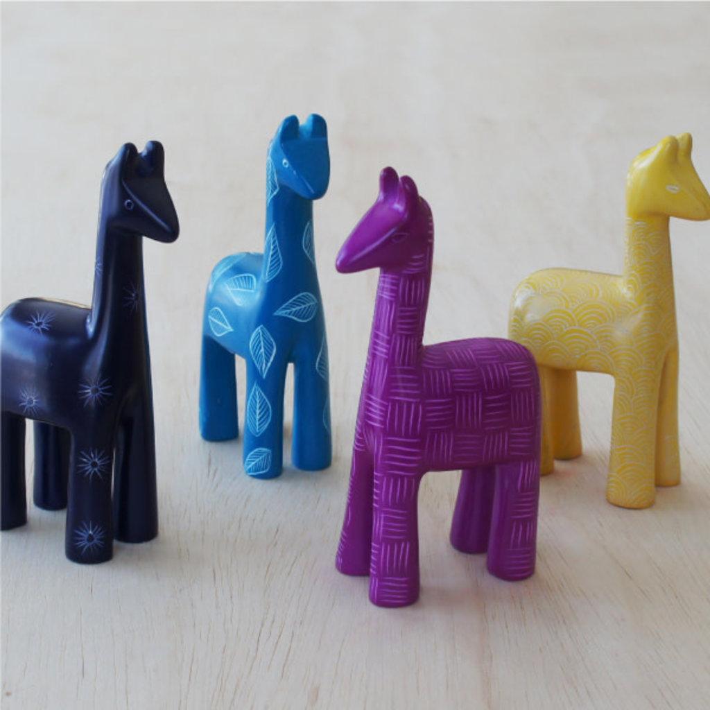 Venture Imports Colorful Yellow Kisii Llamas