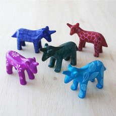 Venture Imports Colorful Pale Blue Kisii Unicorns