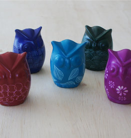 Venture Imports Colorful Pale Blue Kisii Owls