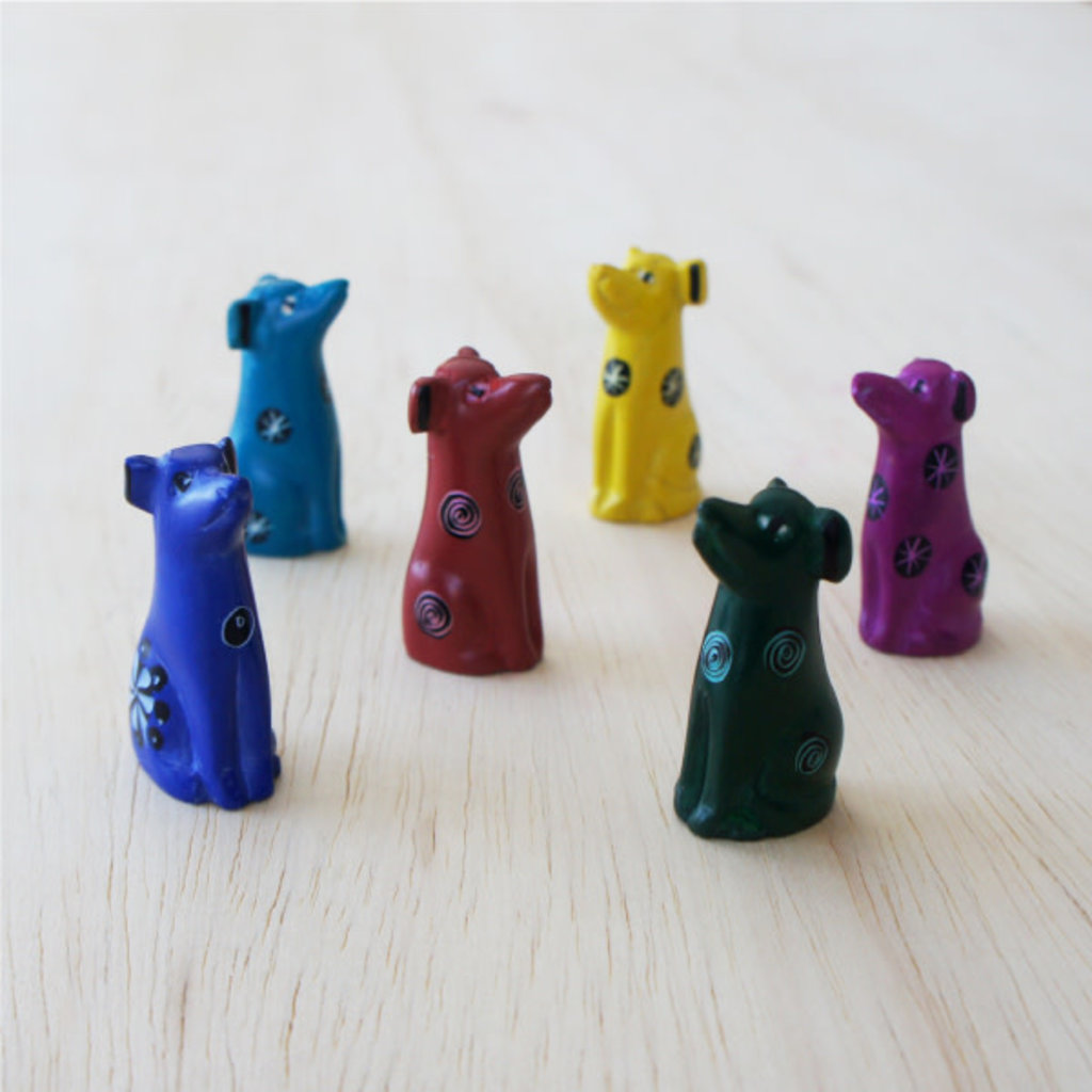 Venture Imports Tiny Soapstone Animal Dog