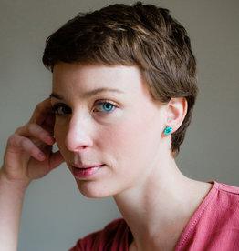 Lucia's Imports Diamond Post Seafoam Earrings