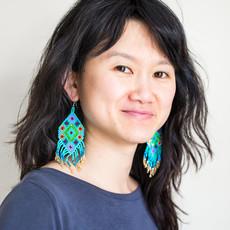 Lucia's Imports Beaded Kite Turquoise Multi Earrings