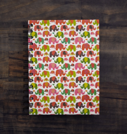 Mr Ellie Pooh Large Elephant Pattern Journal