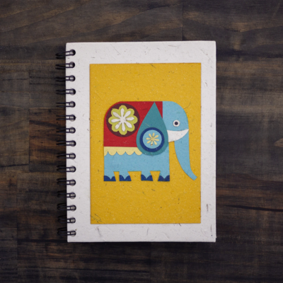 Mr Ellie Pooh Large Elephant on Yellow Journal