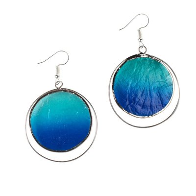 Ten Thousand Villages Deep Ocean Capiz Earrings