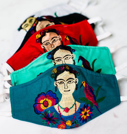 Lucia's Imports Embroidered Frida Face Mask