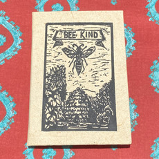 Creation Hive Bee Kind Block Print Journal