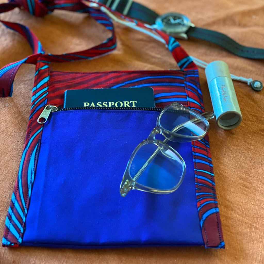 Creation Hive Kitenge Passport Bag