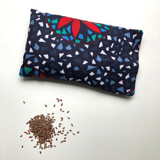 Creation Hive Kitenge Flaxseed Pillow with Lavender