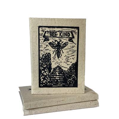 Creation Hive Bee Kind Block Print Journal