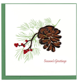 Quilling Card Holiday Pinecone Quilling Card