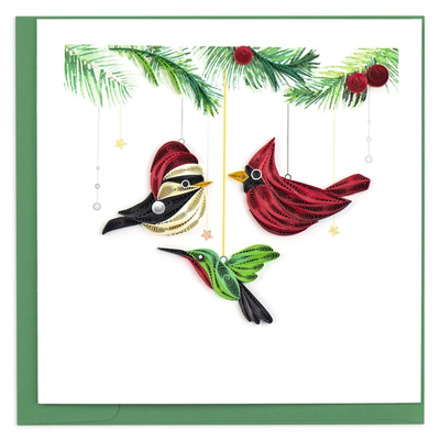 Quilling Card Bird Ornaments Holiday Quilled Card