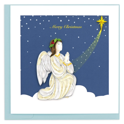 Quilling Card Blessed Angel Holiday Quilled Card