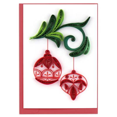 Quilling Card Red Ornament Quilled Gift Enclosure Card