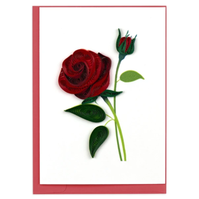 Quilling Card Rose Quilled Gift Enclosure Card