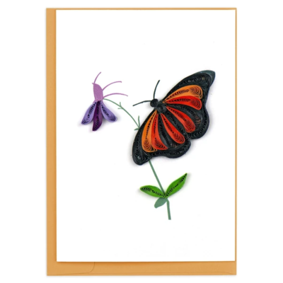 Quilling Card Monarch Quilled Gift Enclosure Card