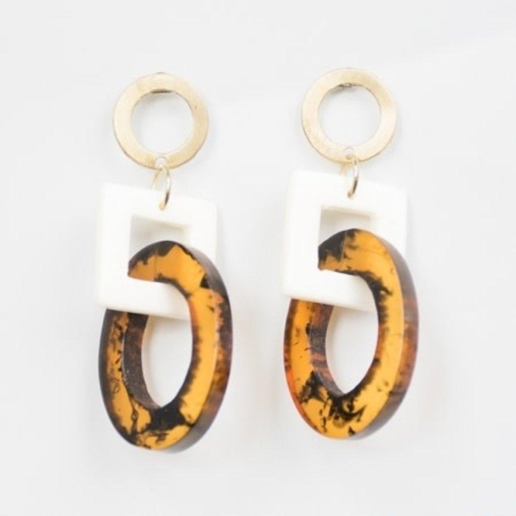 Mata Traders Priyanka Tortoiseshell Earrings