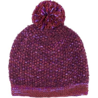 Andes Gifts Lima Blended Knit Hat: Berry