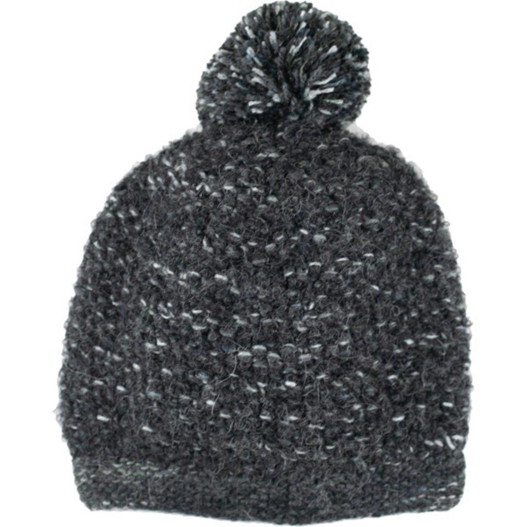 Andes Gifts Lima Blended Knit Hat: Black