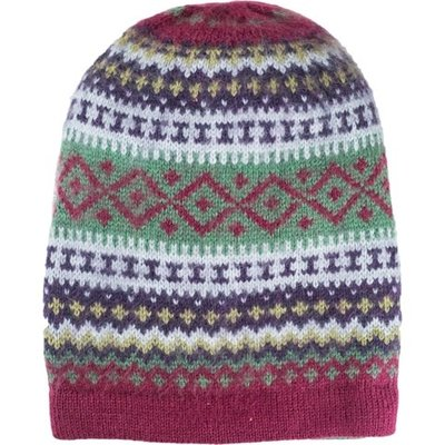 Andes Gifts Sierra Knit Hat: Berry
