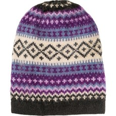 Andes Gifts Sierra Knit Hat: Purple