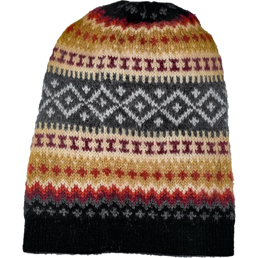 Andes Gifts Sierra Knit Hat: Black