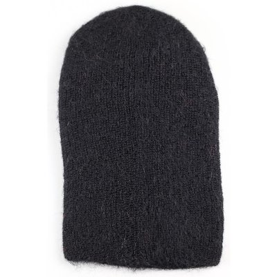 Andes Gifts Milkshake Alpaca Knit Hat: Black