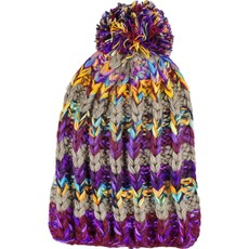 Andes Gifts Altiplano Knit Hat: Purple