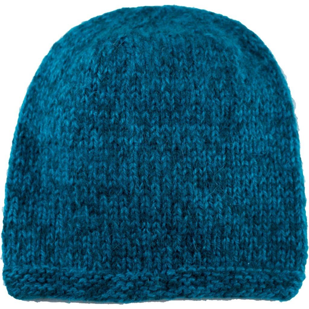 Andes Gifts Blended Knit Hat: Aqua