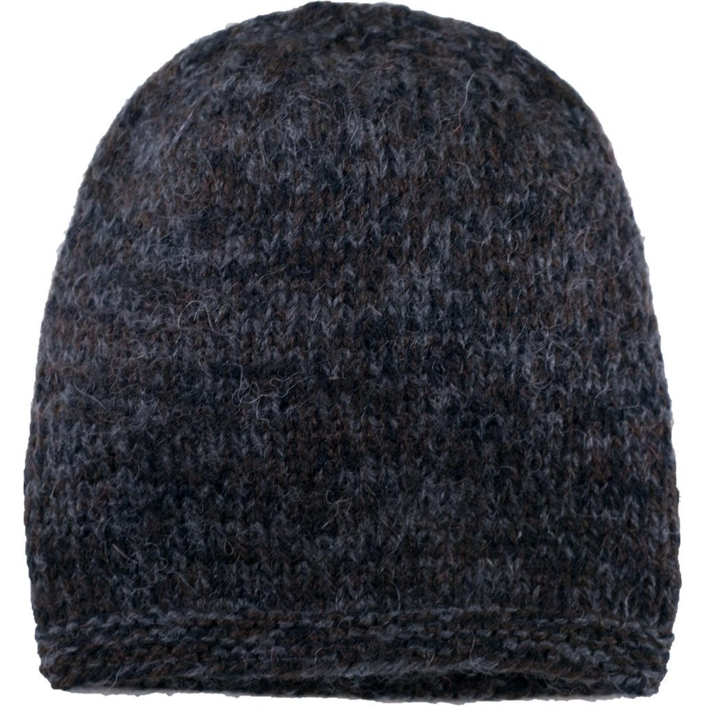 Andes Gifts Blended Knit Hat: Black