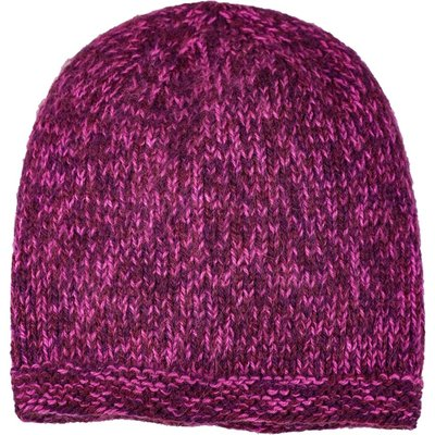 Andes Gifts Blended Knit Hat: Burgundy