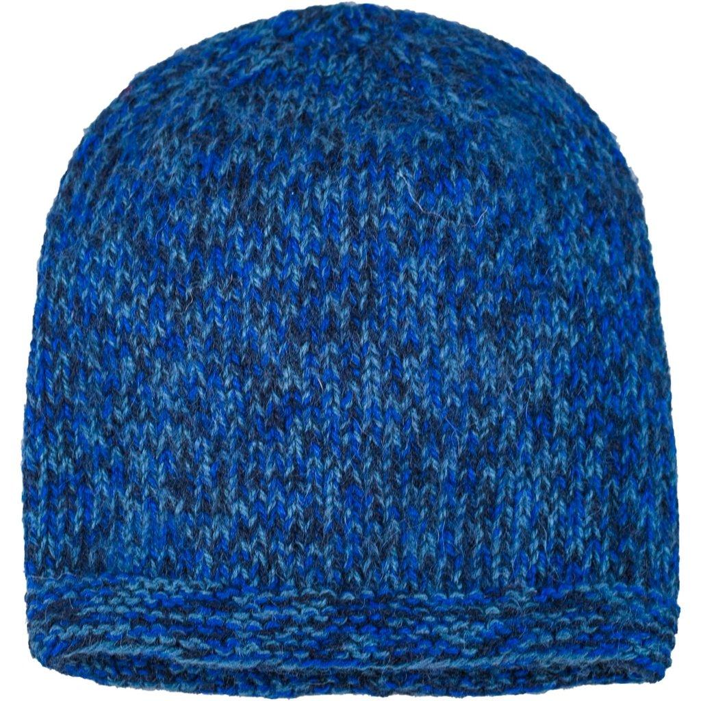 Andes Gifts Blended Knit Hat: Cobalt