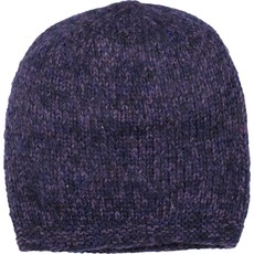 Andes Gifts Blended Knit Hat: Grape