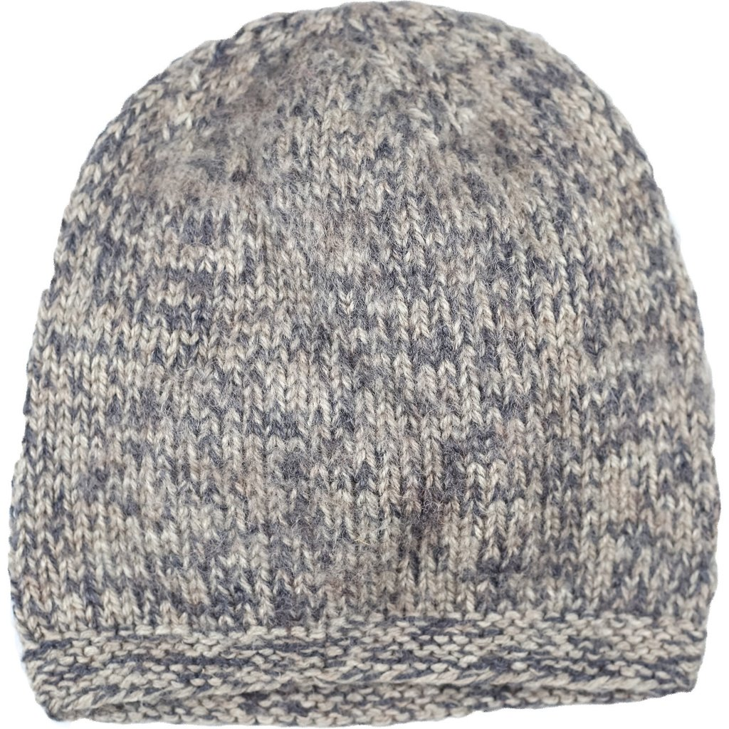Andes Gifts Blended Knit Hat: Natural