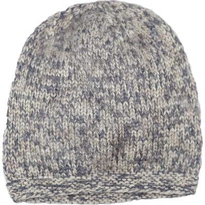 Andes Gifts Blended Knit Hat: Natural