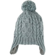 Andes Gifts Cable Knit Hat with Pom: Blue
